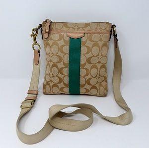 COACH Signature Crossbody Messenger Handbag